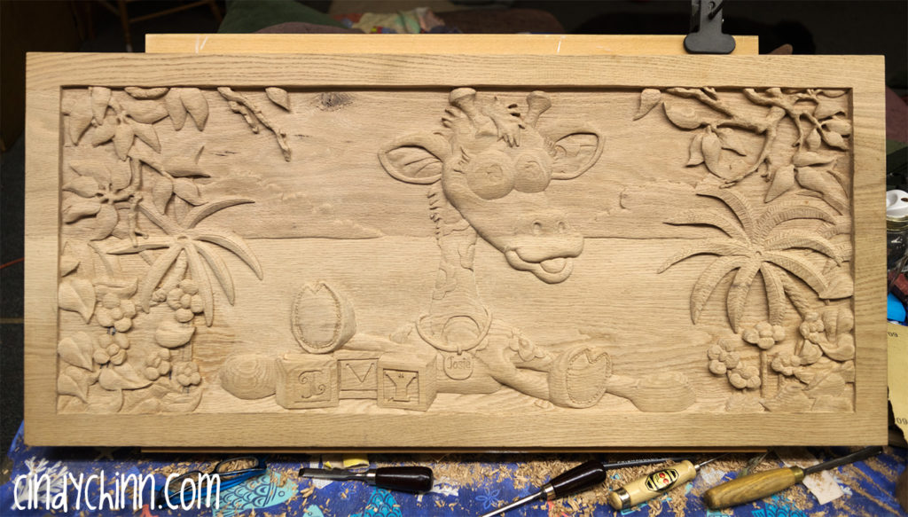 wooden toy box josie carving 07