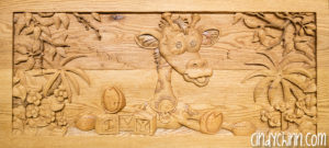wooden toy box josie carving 08