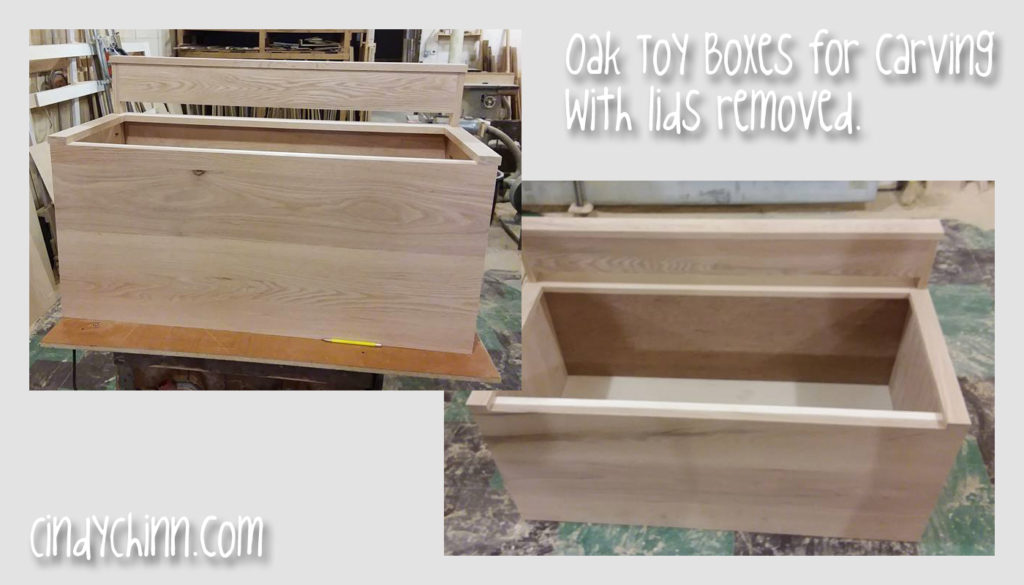wooden toy box - hand made