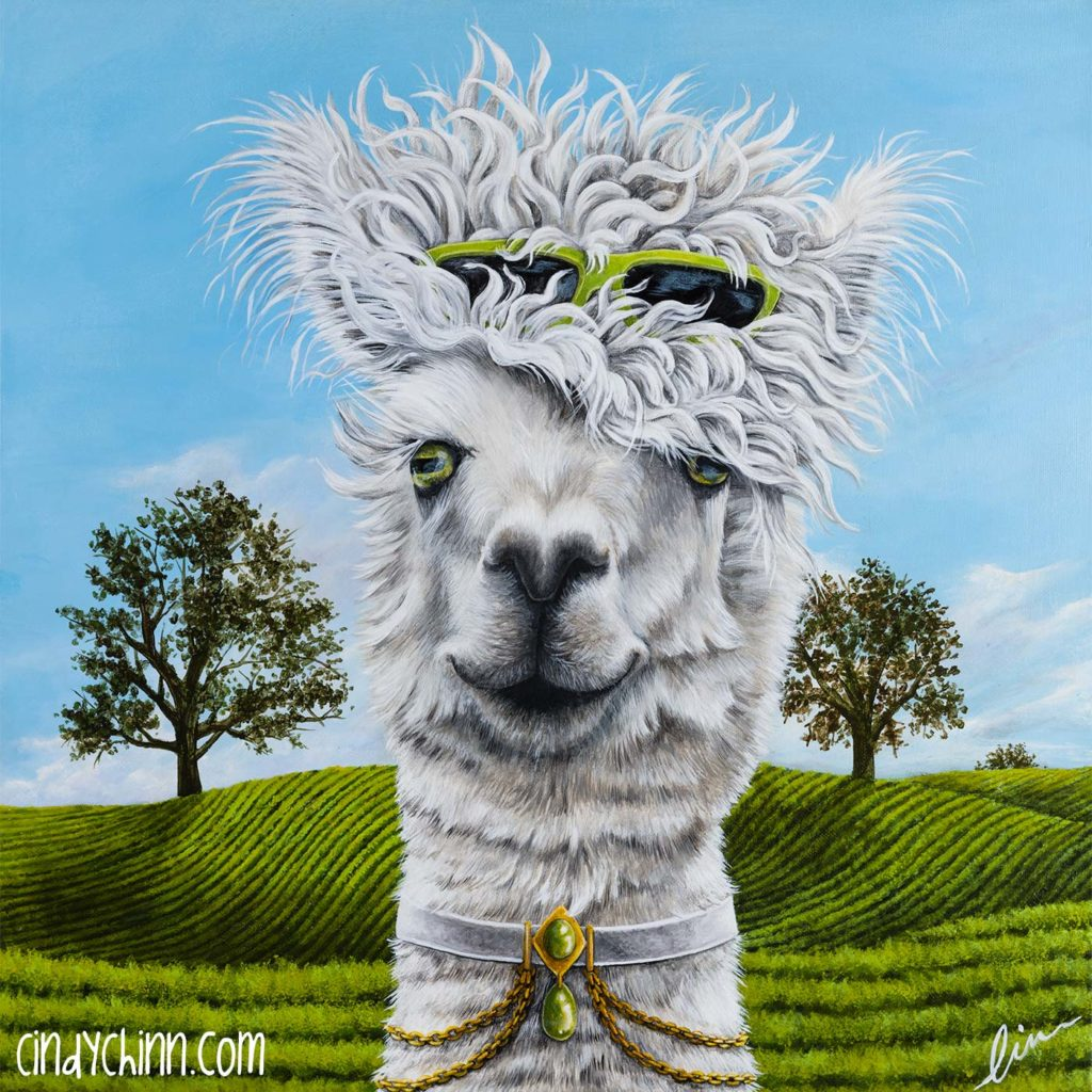 Alpaca Painting Final by Cindy Chinn