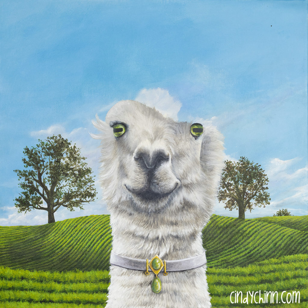 Alpaca painting progress -04