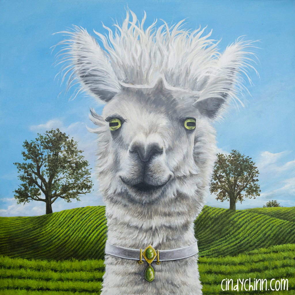 Alpaca Painting - in progress -05