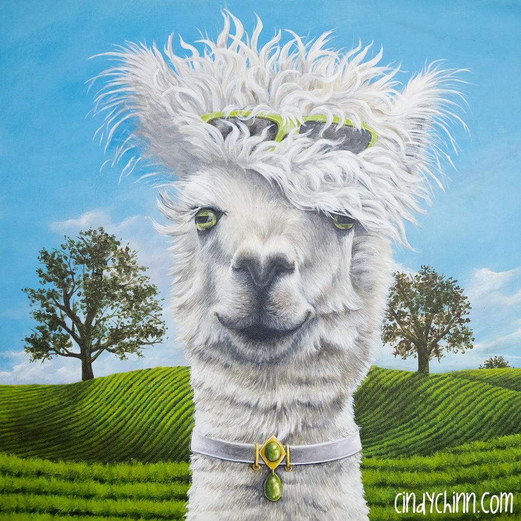 Alpaca painting 06