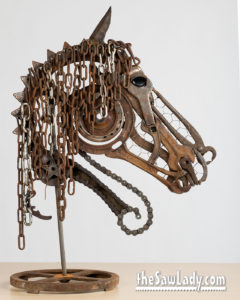Horse Head Profile Metal Art