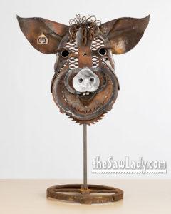 Pig Head Barnyard Portrait
