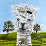 Alpaca Painting by Cindy Chinn