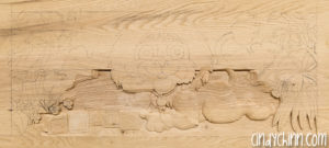 carved toy box Leo 03