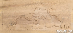carved toy box Leo-05