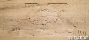 carved toy box Leo 06