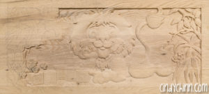 carved toy box Leo 08