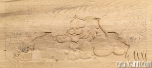 carved toy box Leo 04