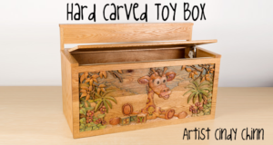 carved toy box