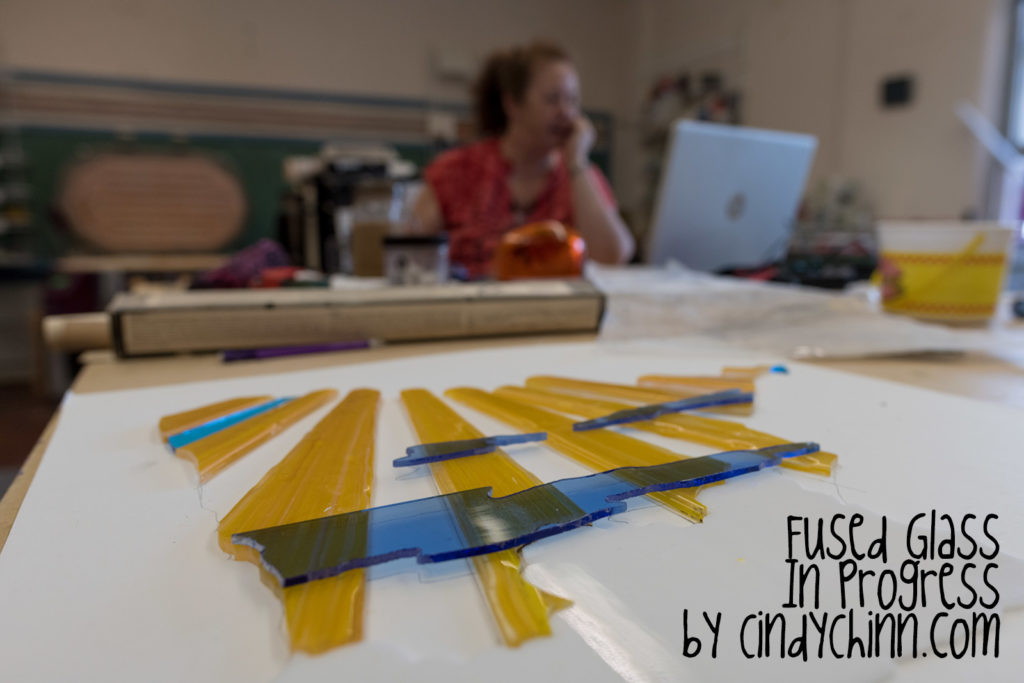 Glass Art Project - Fused Glass using stringers