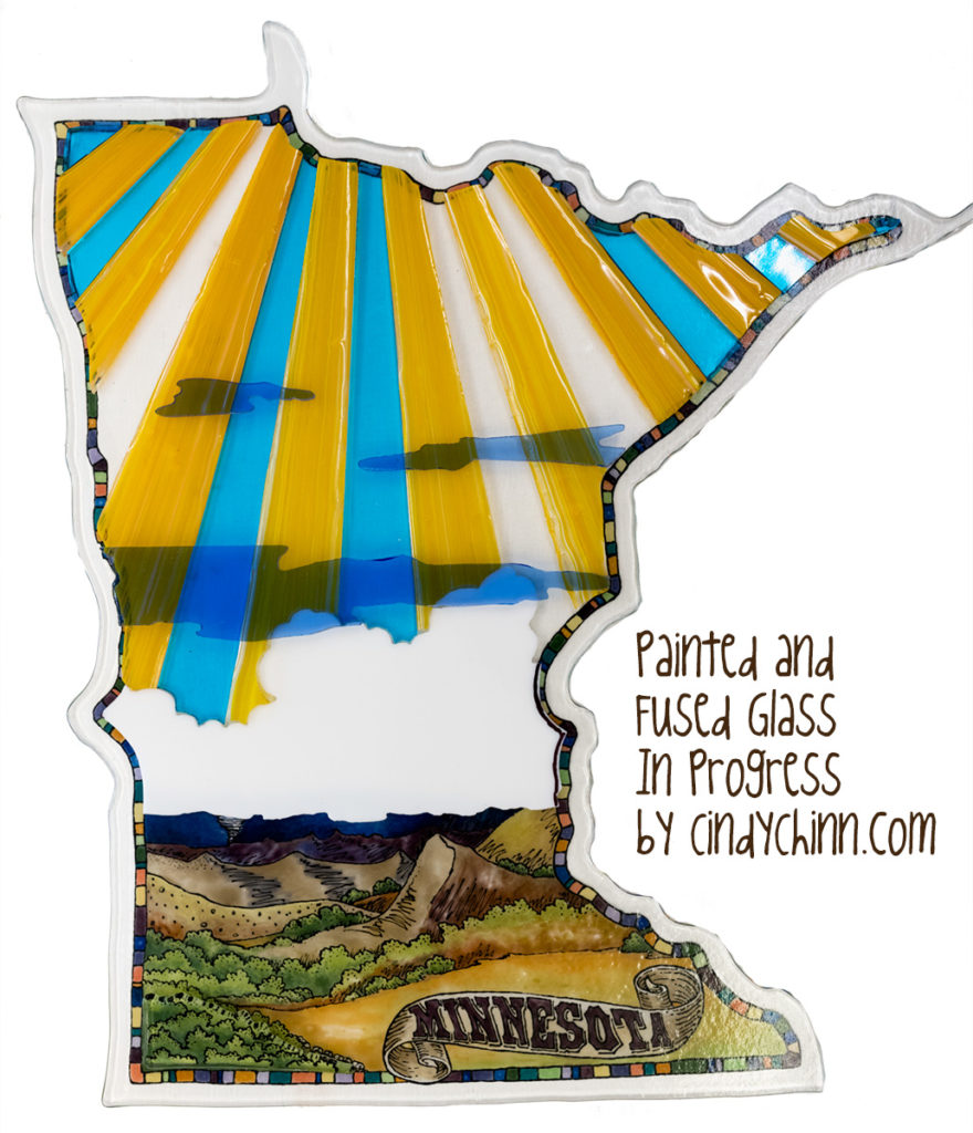 Glass Art Project - Minnesota - in Progress