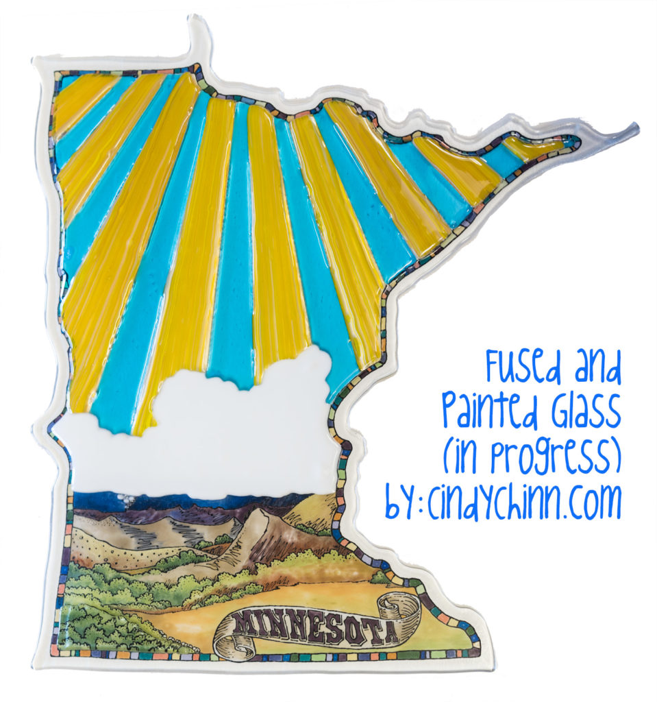 Art Glass - Painting and fused glass project - Minnesota