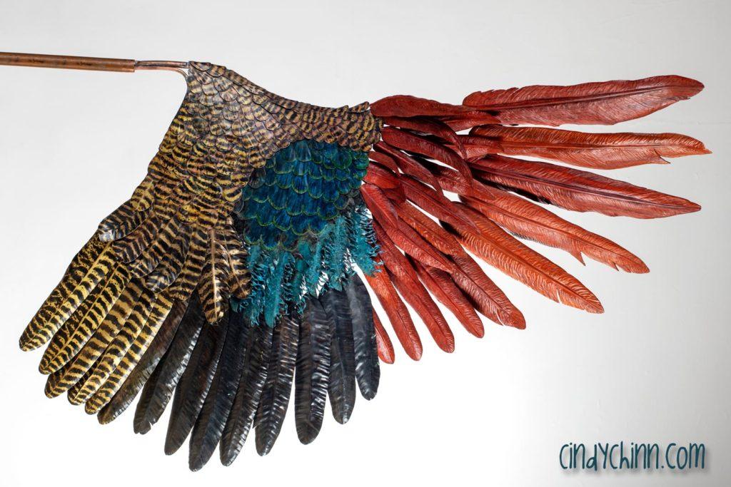 Peacock Sculpture (Wing in Progress)