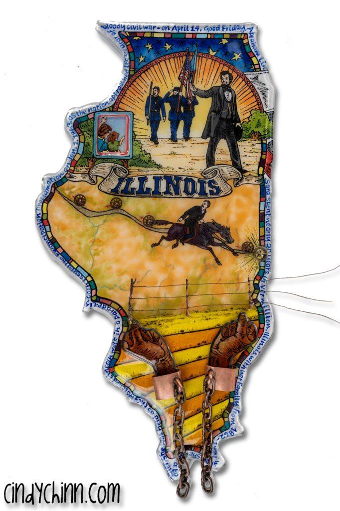 Illinois Glass Art, Painting, fusing