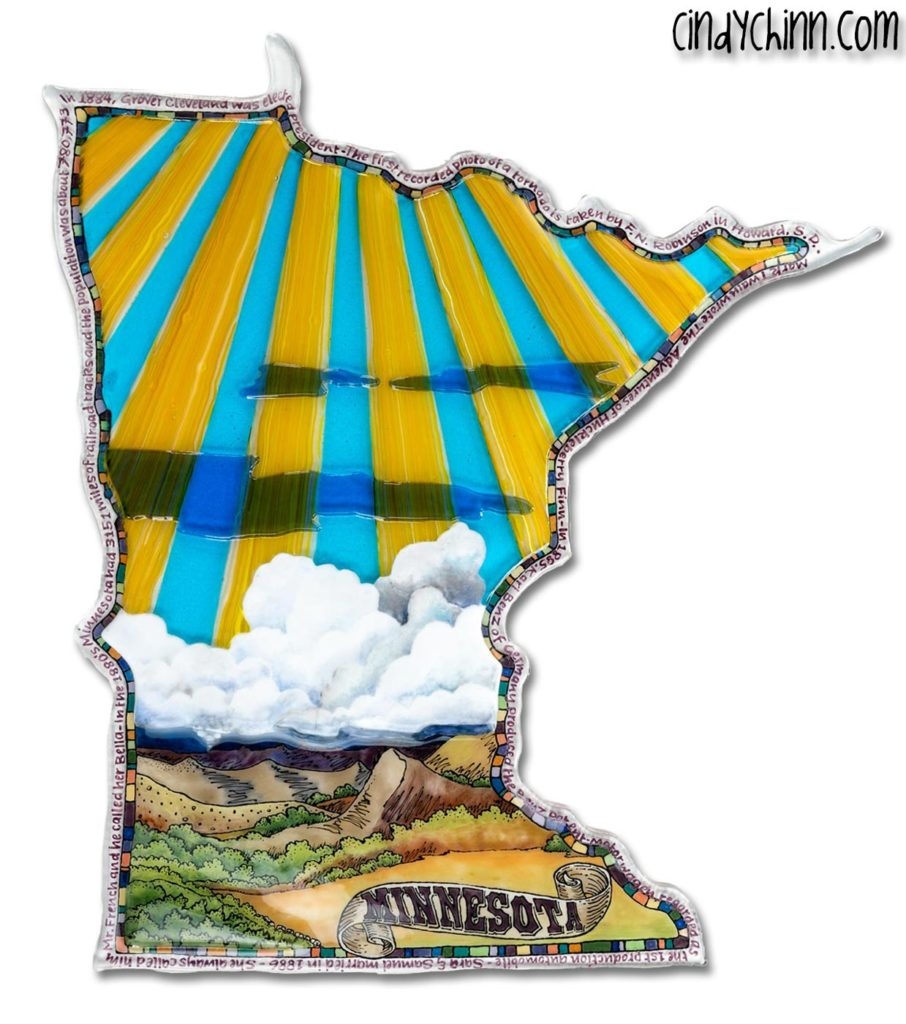 Minnesota Glass Art, Painting, fusing